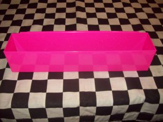 NEON PINK DEEP DRAWER TOOL BOX TRAY snap 2 use on side