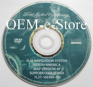 OEM 2007 Ford Expedition & XLT Eddie Bauer Limited Navigation DVD Map