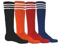 KNEE HIGH STRIPE SOCKS GIRLS WOMEN MENS SOCCER SOFTBALL VOLLEYBALL