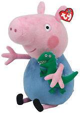 LARGE TY PEPPA PIG   GEORGE   SOFT PLUSH TOY 12 INCHES (30CM)   BNWT