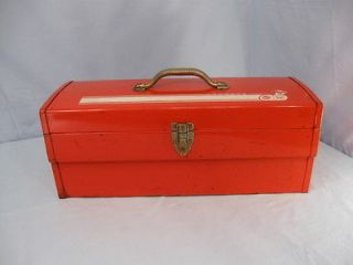 Vintage Retro 60s Red SPEED RACER Metal Tool Box