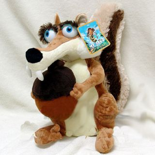 ICE AGE 3 SCRATTE SQUIRREL STUFFED PLUSH TOY DOLL 10 BRAND NEW