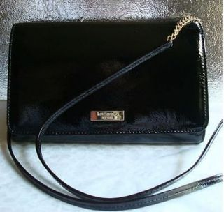 Kate Spade Ocean Drive vionette Black Leather Clutch Wallet Purse Bag