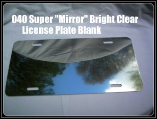CLEAR & 2 GOLD Bright ALUMINUM LICENSE PLATE / CAR TAG BLANKS