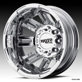 MOTO METAL CHROME 963 DUALLY 16 X 6 FORD F350 99 UP WHEELS JUST