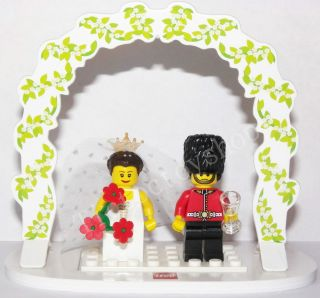 LEGO BRIDE & GROOM ARMY SOLDIER WEDDING MINIFIGURE CAKE TOPPER TABLE