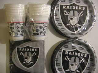 OAKLAND RAIDERS NFL FOOTBALL Party Supply Set Kit