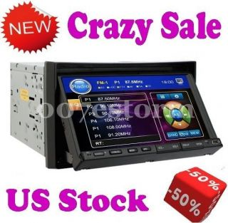 HD LCD 7 Touch Screen Double Din In dash Car Stereo DVD Player Radio