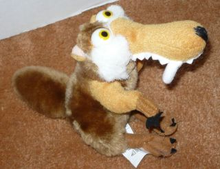 SCRAT ICE AGE PLUSH TOY 5 STUFFED ANIMAL FIGURE FROM MOVIE USED 2007