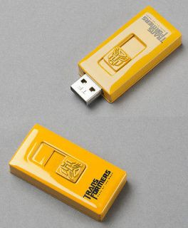 Newly listed Yellow Metal Transformer Autobot USB Flash Memory Drive