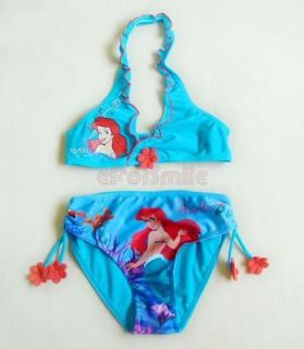 Girls Kids Mermaid Swimsuit Swimwear Bikini Bathing Costume Blue Size