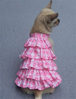 Pet Dog Dress Toy Puppy M breed dog dress with Ruffles Fast Ship from
