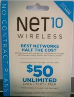 MICRO Net10 Wireless SIM Card for iPhone4 (iphone 4/4S)   NEW