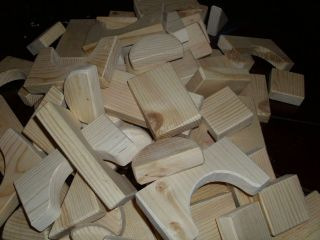 lbs of Wooden Building Blocks