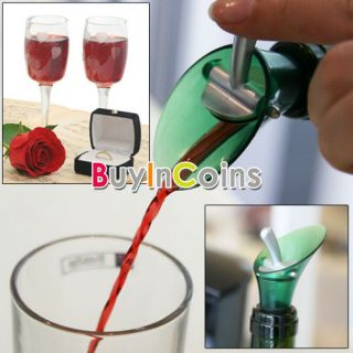 Red Wine Aerator Bottle Plug Cap Pourer Silicone Shutoff Seal Stopper