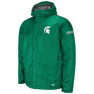 NCAA LICENSED MICHIGAN STATE SPARTANS MONSOON FULL ZIP STORM JACKET