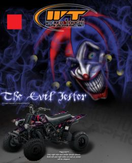 YAMAHA BANSHEE FENDER PLASTICS GRAPHICS THE EVIL JESTER