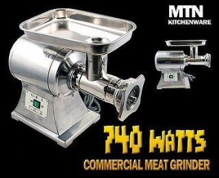 New MTN Commercial 1HP Stainless Steel Electric Meat Sauage Grinder No