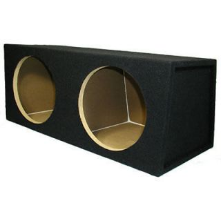12 Sealed Black Dual Sub Car Truck Speaker Bass Box 12D