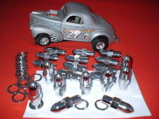 AMERICAN RACING BULLET MAG LUGS TORQUE THRUST ANSEN FORD HOT RAT ROD