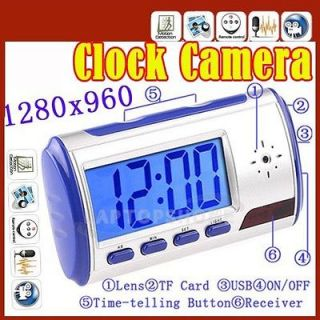 Mini Multi function Camera Clock with Motion Detection Remote Control