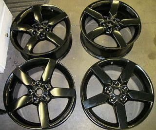 Set of 4 OEM Chevy Camaro 19 5 Spoke Wheels Black 2010 2011 2012 5442