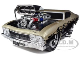 1969 CHEVROLET CHEVELLE GOLD/BLACK MUSCLE MACHINES 1/18 BY MAISTO