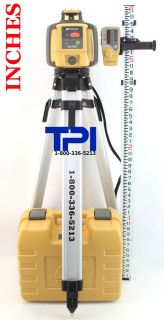 TOPCON RL H4C SELF LEVELING ROTARY SLOPE LASER LEVEL + TRIPOD & INCES