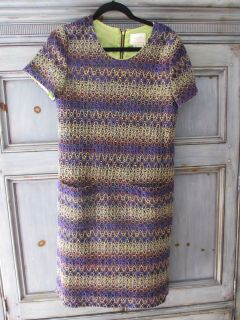 Kate Spade wool blend multi color S/S dress size 12