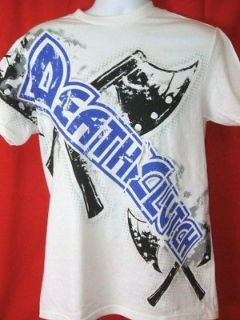 DEATH CLUTCH Halftone Axes Premium White T shirt NEW