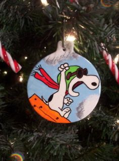 SNOOPY Flying ACE THE PILOT Red Baron Christmas Ornament Tree 2012