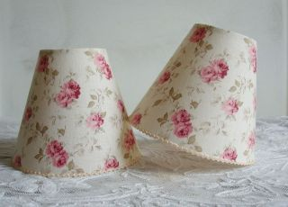 LOVELY SHABBY CHIC ROSES LAMPSHADE 11 x 13 cm   FOR WALL LIGHT SCONCE