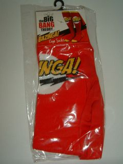 The Big Bang Theory Tv Show Red Bazinga Costume Cape Knee High Socks