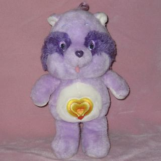 Vintage 1984 BRIGHT HEART 13 Racoon Care Bear Cousins Plush Stuffed