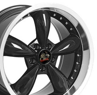 20 8.5/10 Black Bullitt Bullet Style Wheels Rims Fit Mustang® GT 94