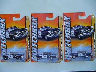 2012 MATCHBOX  LOT OF 3 #69 56 BUICK CENTURY POLICE CAR