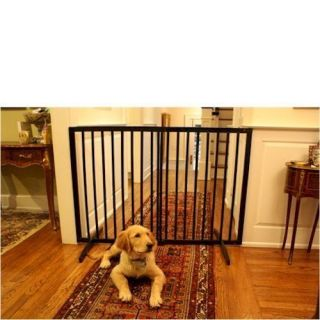 Cardinal Extra Tall Freestanding Pet Gate in Black