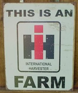 Vintage INTERNATIONAL HARVESTER Ad Sign IH FARM TRACTOR