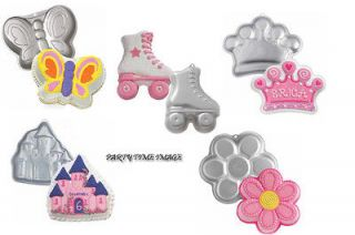 Wilton Shaped Cake pan W/FREE Balloons u Pick,Castle,Crown,Daisy,Skate