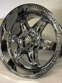 Chrome Raceline Wheels Rims Chevrolet Silverado GMC Sierra 6 Lug 6x5.5