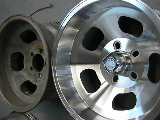 15x8.5 Ansen Sprint Style Slot Mag 5x4.75 Rims Wheels 5 lug GM Chevy