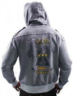 CHRISTIAN AUDIGIER Ed Hardy Long Men Hoodie 100% Authentic NWT Sizes S