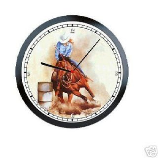Racing Horse Equestrian Western Rodeo Girl Sign Art Wall Clock #58