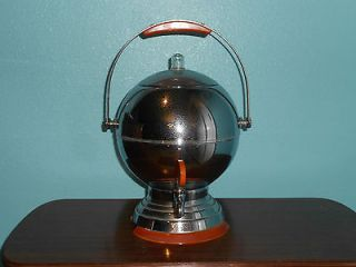 AND VINTAGE ART DECO CHROME BAKELITE COFFEE PERCOLATOR MANNING BOWMAN