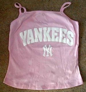 NEW YORK YANKEES Womens PINK Spaghetti Shirt top  XL