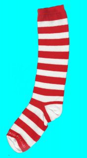 Red & White Striped Knee High Socks   Infant & Child   Raggedy Ann or