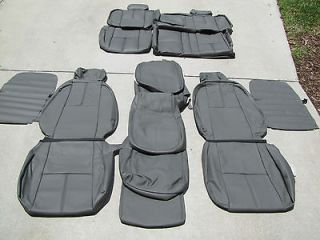 Chevrolet Silverado Crew Leather Seat Covers Seats 2007 2008 2009 2010