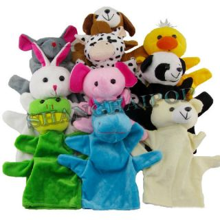 Animal Hand Puppets Soft Children Kids Baby Plush Toy Panda Duck Cow