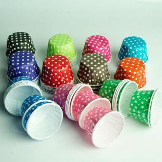 BAKING/CANDY NUT SNACK CUPS, CUPCAKE LINERS, PARTY FAVORS, POLKA DOT