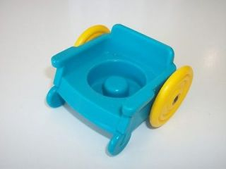 Fisher Price Little People Teal Wheelchair Wheels Roll